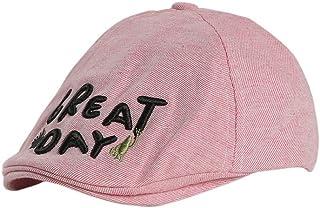61b9ce6abe0 HucodeVan - Casual Boina para niños bebé Sombrero Carta Bordado Estampadas/ Sombrero de paño/