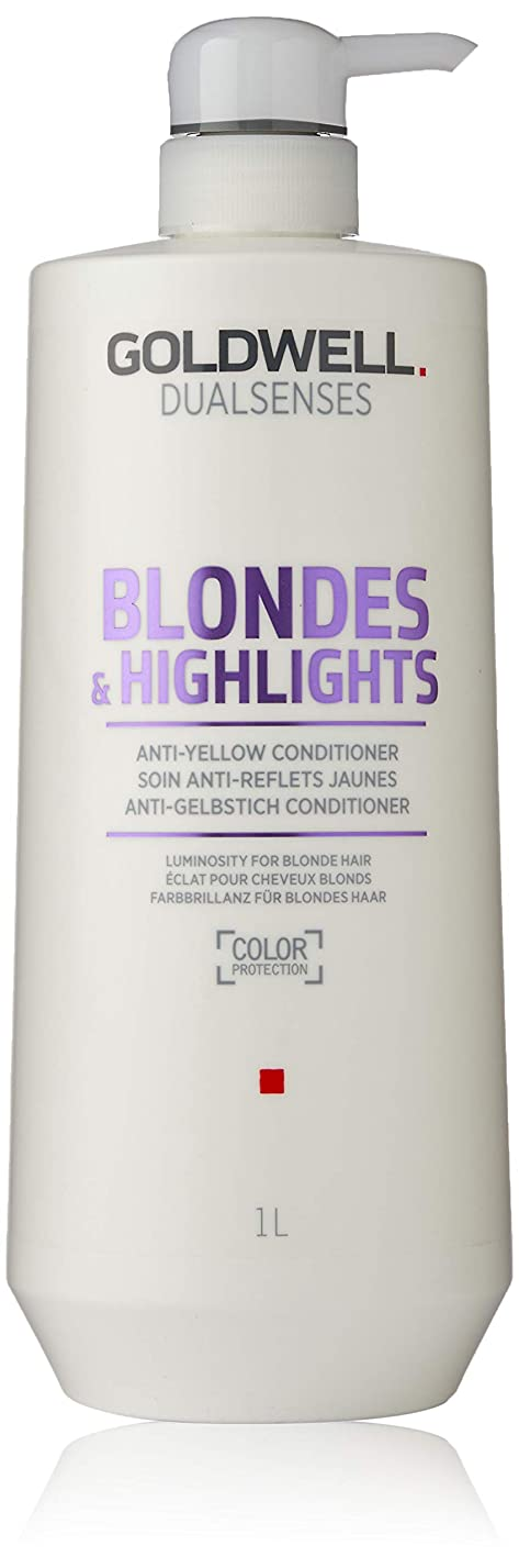 レザーアスリート派手ゴールドウェル Dual Senses Blondes & Highlights Anti-Yellow Conditioner (Luminosity For Blonde Hair) 1000ml