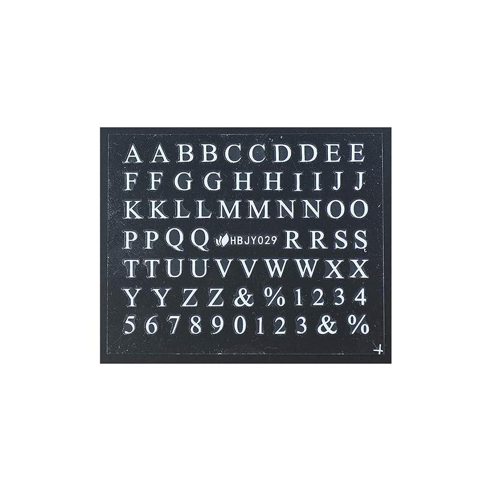ハンディキャップメディックアンテナ3D ネイルシール アルファベット