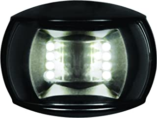 HELLA 980520501 '0520 Series' NaviLED Multivolt White 8-28V DC 2 NM Compact Stern Navigation Light with Clear Lens and Black Shroud