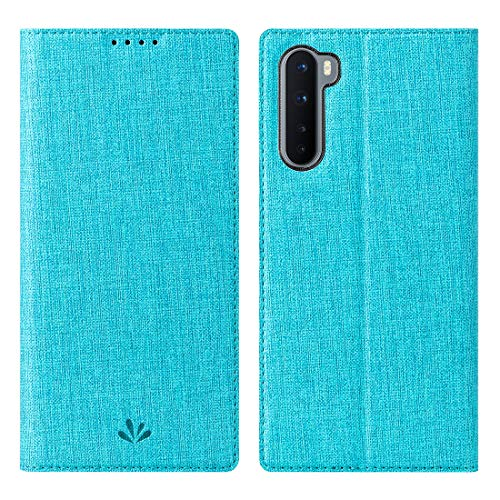 Foluu Oneplus Nord 5G Case, Flip Folio Wallet Cover Slim Premium PU Leather Case ID Credit Card Slots Stand Kickstand and Magnetic Closure Clear TPU Bumper Cover for Oneplus Nord 5G 2020 (Blue)