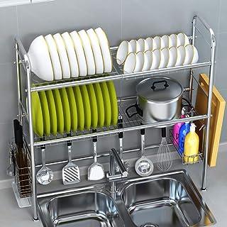 Étagère en acier inoxydable, support de rangement de cuisine, grand poids porteur pour garder la vaisselle de bouteilles d...