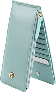 Cckuu Thin Zip Blocking Handbag Womens Faux Leather Wallet Purses Card Organizer