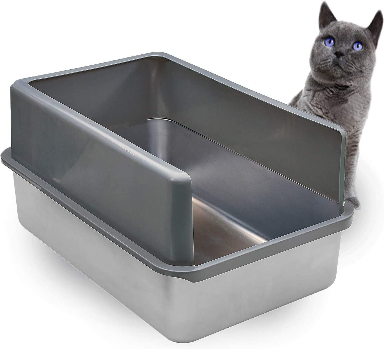 iPrimio Ultimate Stainless Steel Cat XL Never Box Absor Litter - Jacksonville Mall Now free shipping