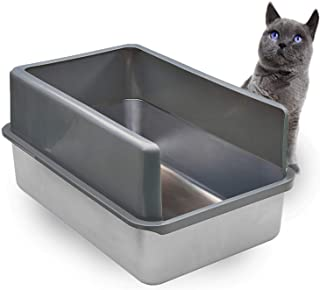 iPrimio Ultimate Stainless Steel Cat XL Litter Box – Never Absorbs Odor, Stains, or..