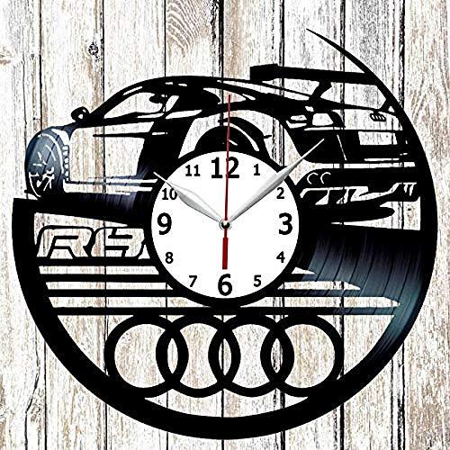 AIYOUBU R8 Vinel Rekord Wanduhr Home Art Decor Original Geschenk einzigartiges Design Vinyl Uhr schwarz Exklusive Uhr Fan Art Handmade
