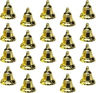 STOBOK 30 Piezas Campanas Doradas cascabeles para Manualidades, Colgante de árbol de Navidad, Adornos de Navidad Decoraciones