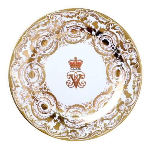 Royal Collection Victoria and Albert Painted Enamel Plate
