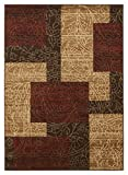Signature Design by Ashley - Rosemont Casual Rug - 5'2 x 7'2'- Red/Brown/Gold