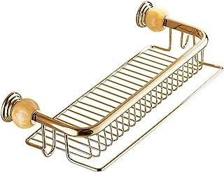 ZHAOHUI 浴室用ラック 銅 きれいになること容易 壁掛け式 中空デザイン ドレイン タオル掛け 防湿、 パンチ取り付け (色 : ゴールド)