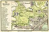 Large Posters MAP Antique 1898 KIESSLING SANSSOUCI Park