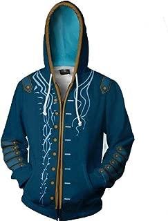 Anime Devil May Cry 5 Dante DMC5 3D Printed Cosplay Costume Hoodie Coat Jacket