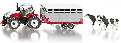 SIKU SK3870 Steyr with Stock Trailer 1 32 MODELLINO Die Cast Model Compatible con