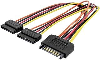 Digitus AK430405003M interne SATA-kabel, 15 polen, stekker, 2 stopcontacten, 20 cm