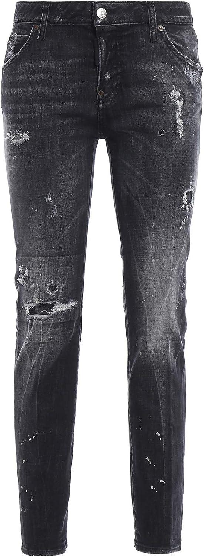 Dsquarot2 Damen Jeans schwarz  | Neuer Stil