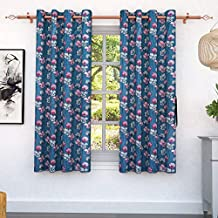 Story at Home Window Curtain, Blue/Pink, 118cm X 152cm, Wgy2012, 2Pcs