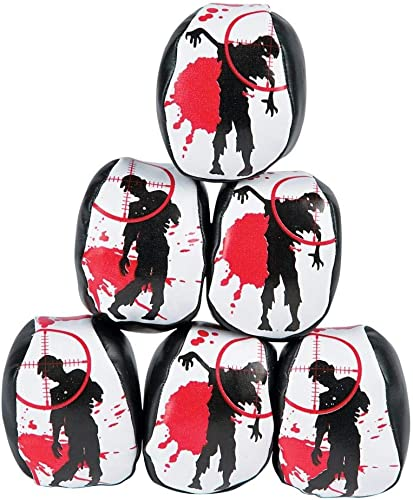 12  Zombie Vinyl Kick Balls   Foot Bags  Approx. 2 Inch  New - Hacky Sacks by FX