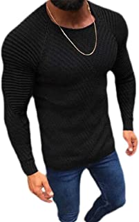 Loyomobak Men's Pullover Knitted Crew Neck Long Sleeve Winter Sweater