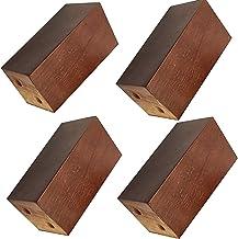 YWTT 4 stuks massief eiken meubelpoten, vervanging bank tafel en stoel benen, kast benen, houten blok bed benen, 3 kleure...