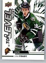 2018-19 UD CHL Top Level Talent Hockey #TL-11 Liam Foudy London Knights Official Canadian Hockey League Trading Card From Upper Deck
