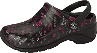 Anywear Zone Women's Healthcare Professional Injected Clog with Backstrap