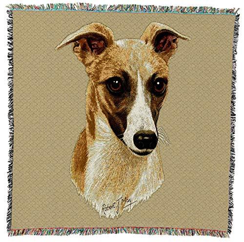 Pure Country 1174-ls Whippet Pet Decke, Hunde auf beige Hintergrund, 54von 137