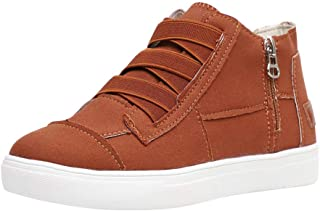 Women's Casual Summer Round Toe Side Zipper Flat Canvas Shoes Comfort Walking Sneaker Sport Running Loafer Shoes