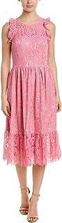 Eliza J Women's Lace Ruffle Midi Dress