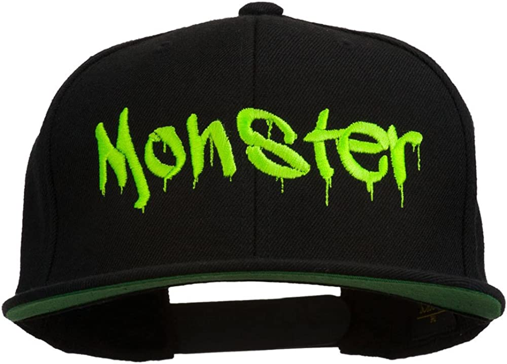 e4Hats.com Halloween Monster Embroidered Snapback Cap
