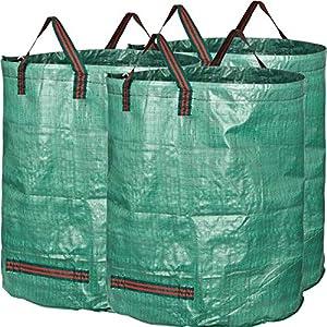 GardenMate® 3 Sacos de jardín 300 L PROFESIONAL tejido de polipropileno (PP) robusto