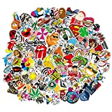 Sticker 200 Pcs Vinyl Waterproof Stickers Laptop Luggage Stickers Skateboard Guitar Travel Case Graffiti Sticker Door Car Motorcycle Bicycle Stickers Teens Girls Boys (200 pcs)