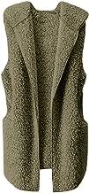 Aniywn Women's Winter Sleeveless Vest Ladies Soft Plush Lightweight Fall Casual Coat Jacket with Pockets