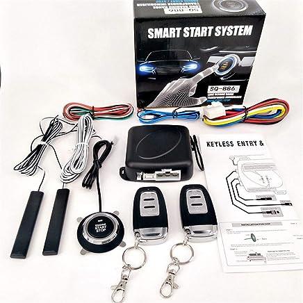 $57 Get Partol Smart Key PKE Car Alarm Passive Keyless Entry Car Alarm System Engine Start Stop Push Button Remote Starter Shock Sensor Alarm