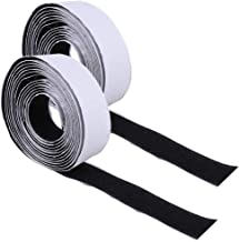 Cabilock 5 Paar Zelfklevende Klittenband Roll Stok Terug Gestreepte Stof Bevestiging Montagetape Voor Foto Tools Opknoping...