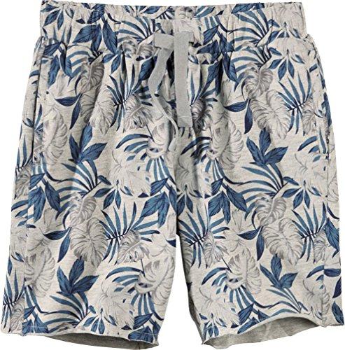 Golden Lutz® Jungen Shorts Sweatshorts Blättermuster (grau meliert blau, Gr. 146/152) | Pepperts®