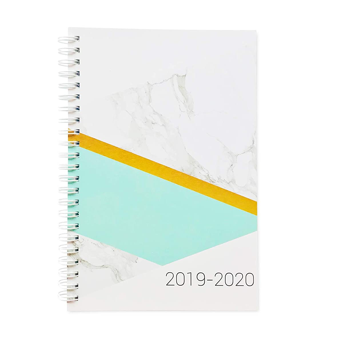 Planner 2019-2020 Monthly Weekly Academic Planner, 5.5x8 inches, Chic Fashionable Marble Teal Student Planner (AJWP-303)