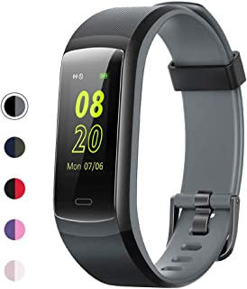 YAMAY Fitness Tracker, Fitness Watch Heart Rate Monitor Activity Tracker,Color Screen Dual-Color Bands IP68 Waterproof,with Step Counter Sleep Monitor 14 Sports Tracking for Women Men