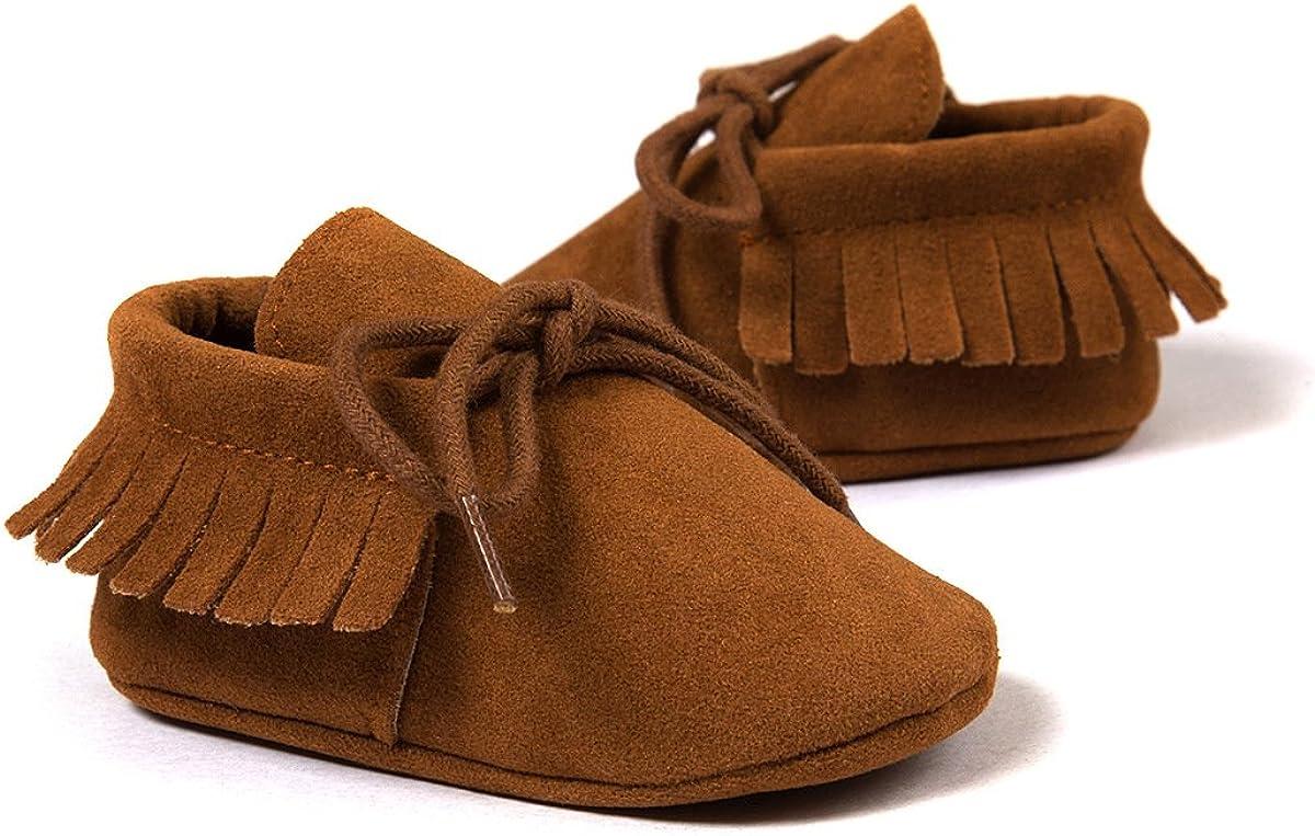 Auxma Moda Beb/é ni/ña Cuna borlas Vendaje Suave /único Casual Zapatos ni/ño Zapatillas
