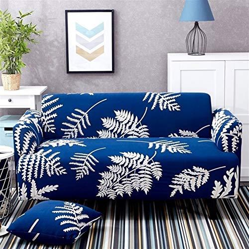 `Star Empty Fundas Sofa Elasticas Spandex Moderna Sofá Cover Hojas de Baile Patrón seccional sofá Cubierta con Todo Incluido Deep Blue Couch Cubrir los Muebles Protector
