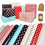 Wrapping Paper Sheets - Folded Flat - 10 Pack Birthday Wrapping Paper Set Included 10 Pieces of...