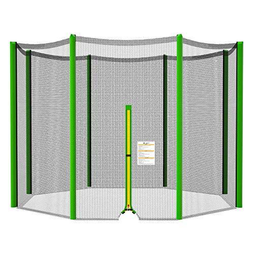 ULTRAPOWER SPORTS Rete di Sicurezza per Trampolino con Ø 244 cm | Rete di Ricambio per Trampolino da Giardino con 6 Pali | Rete Esterna | Verde
