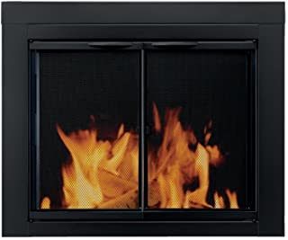 Pleasant Hearth AN-1012 Alpine Fireplace Glass Door, Black, Large