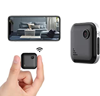 Mini Spy Camera WiFi 1080P Wireless Hidden Camera, Spy Cam Nanny Cam Audio Record Live Streaming, Small Surveillance Camer...