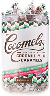 Cocomels Coconut Milk Caramels, Sea Salt Flavor, Organic Candy, Dairy Free, Vegan, Gluten Free, Non-GMO, No High Fructose Corn Syrup, Kosher, Plant Based, (28 oz Bulk Tub)