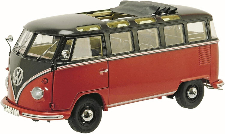 Mejor precio Schuco SH0284 VW T1b Samba 1963 Dark marrón rojo rojo rojo 1 18 MODELLINO Die Cast Model Compatible con  popular