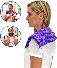 Nature Creation- Neck & Shoulder Wrap - Herbal Heating Pad - Hot & Cold Therapy Pack (Purple Flowers)