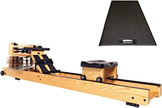 Water Rower Natural Rowing Machine with S4 and WaterRower Mat