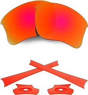 HKUCO For Oakley Flak Jacket XLJ Mens Replacement Lenses Earsocks Rubber Kit
