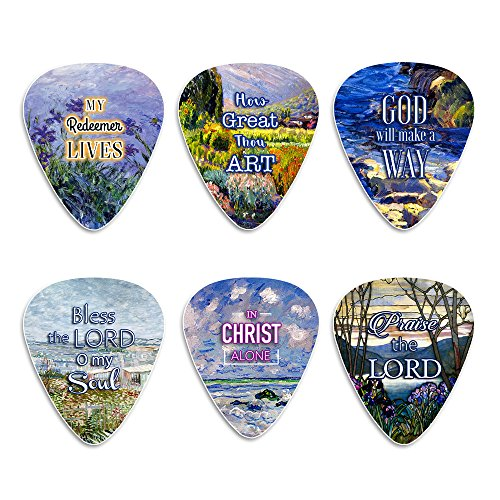 Christian message celluloid guitar picks