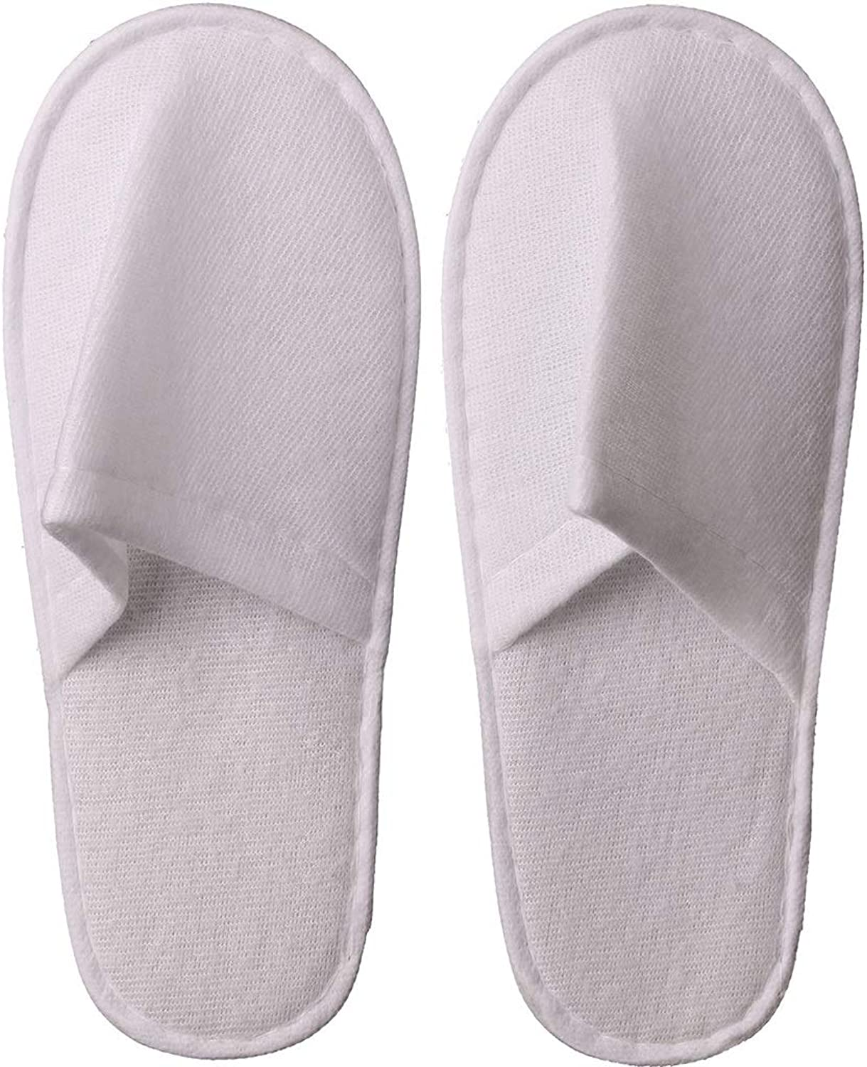 30  50  100Pairs of Spa for Män and and and kvinnor -- Great for Home, Hotel, Spa, Guest, Nail SalonCotton sammet Closed Toe Unisex Universal Storlek vit Slippers (Edition  100 Pairs)  utlopp